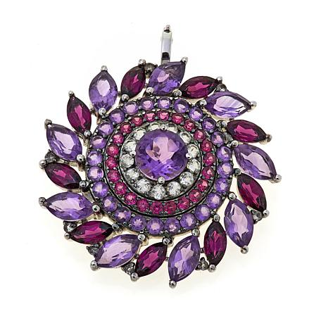 Colleen Lopez 15.30ctw Amethyst and Gem Pin/Pendant