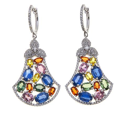 Colleen Lopez 15.96ctw Multi Sapphire & Gem Earrings