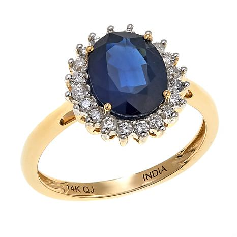 Colleen Lopez 2.11ctw Sapphire and Diamond 14K Gold Ring