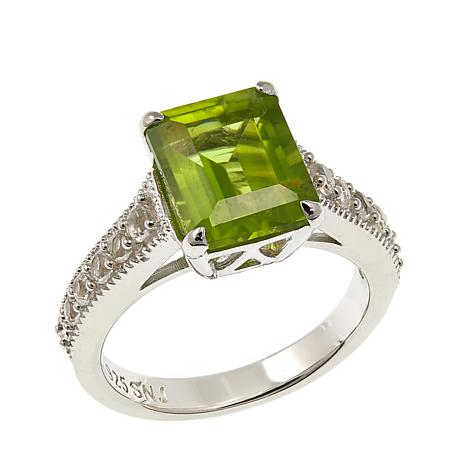 Colleen Lopez 2.97ctw Peridot and White Topaz Ring