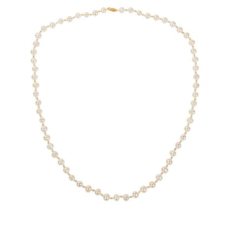 "Colleen Lopez 36"" Cultured Pearl and Hematite Necklace"
