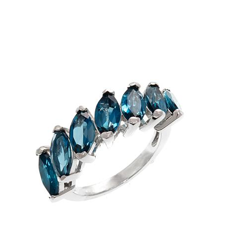 Colleen Lopez 4.55ctw Marquise London Blue Topaz Ring