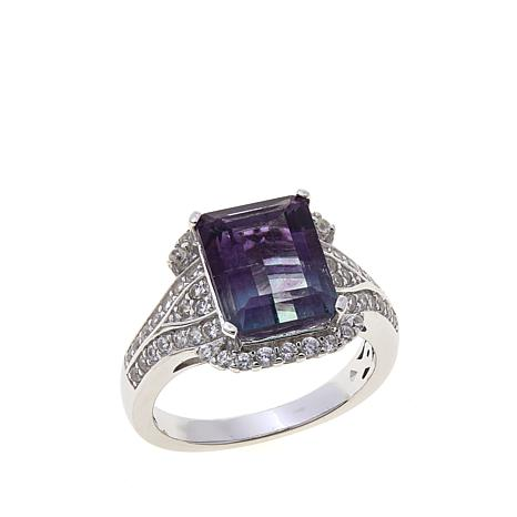 Colleen Lopez 5.08ctw Bicolor Fluorite & Zircon Ring