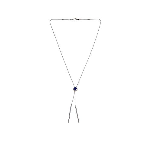 Colleen Lopez Blue Sapphire and Gem Bolo Necklace