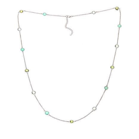 "Colleen Lopez Chrysoprase & Gem Station 29"" Necklace"