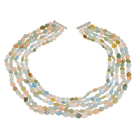 f26021504 Colleen Lopez Colors of Beryl 5-Strand Beaded Necklace - 9014347 | HSN