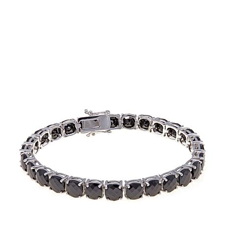 Colleen Lopez Cushion-Cut Black Spinel Line Bracelet