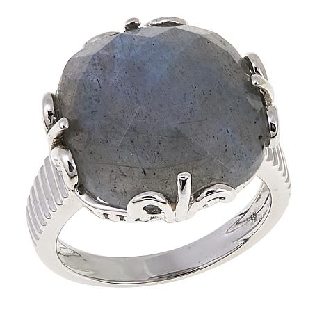 Colleen Lopez Cushion-Cut Labradorite Sterling Silver Ring