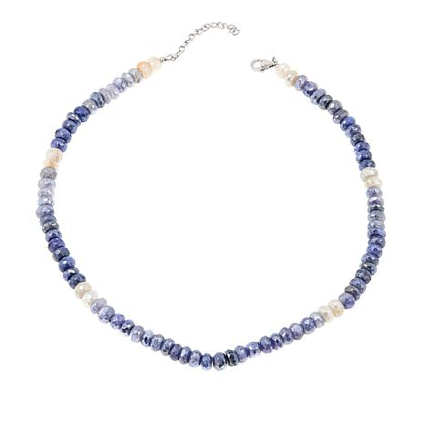 """Colleen Lopez Faceted Moonstone Bead 18"""" Necklace"""