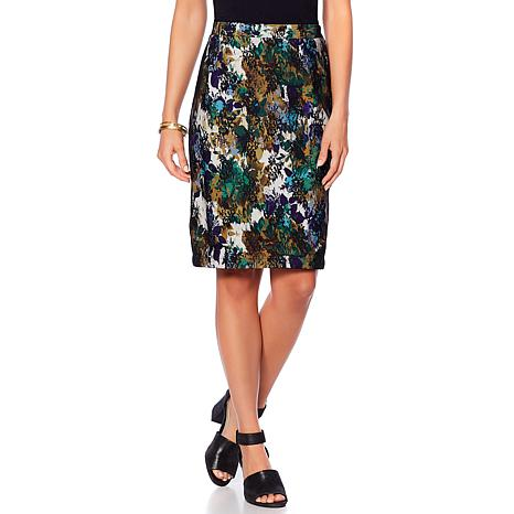 Colleen Lopez Forever Chic Lace Overlay Pencil Skirt