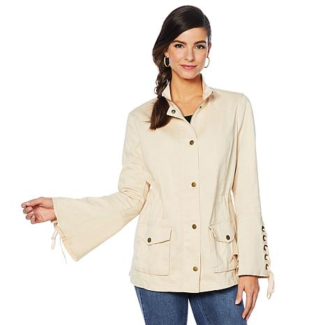 Colleen Lopez Lace-Up Detail Anorak Jacket