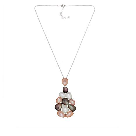 Colleen Lopez Multicolor Mother-of-Pearl Doublet Pendant with Chain
