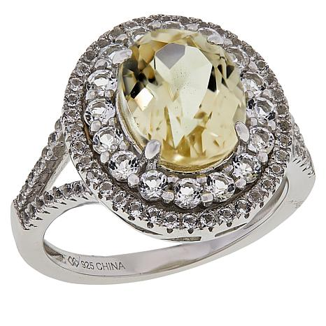 Colleen Lopez Sterling Silver Spodumene and White Topaz Ring