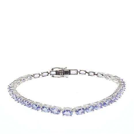 Colleen Lopez Sterling Silver Tanzanite Tennis Bracelet