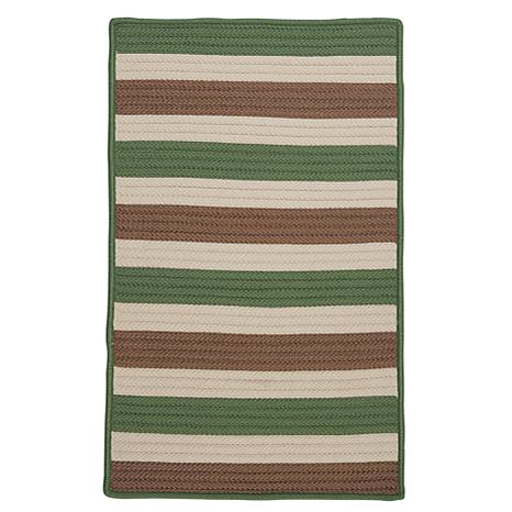 Colonial Mills Stripe It 5' x 8' Rug - Moss/Stone
