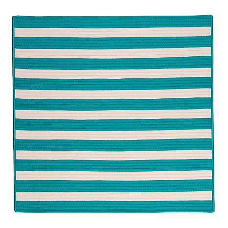 Colonial Mills Stripe It 8' Square Rug - Turquoise