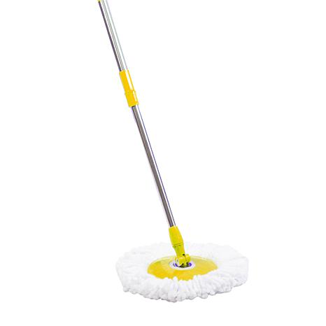 Commercial Spin Mop Handle and Microfiber Head