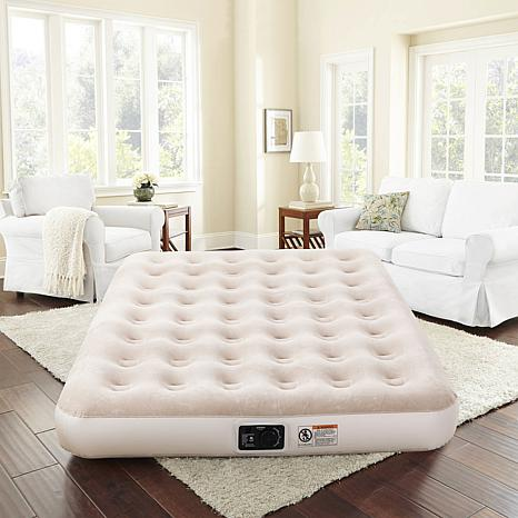 """Concierge Collection 9"""" Queen Air Mattress with Built-In Pump"""