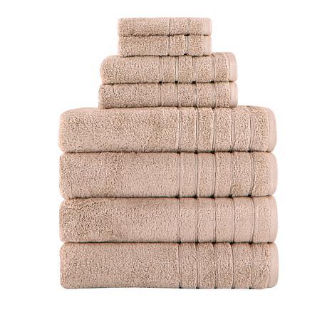 Concierge Collection Barnum 8-piece 100% Turkish Cotton Towel Set