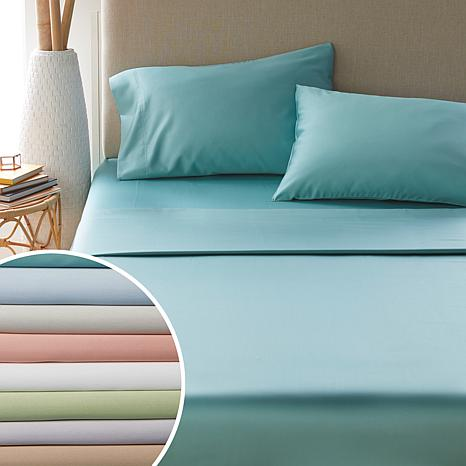 2 Qty Pillow Case 400 Thread Count Pure Cotton Light Blue Solid King Size KI USA
