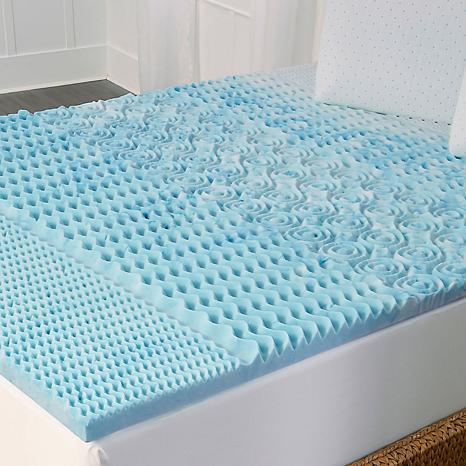 concierge rx cooling gel 5zone memory foam topper k