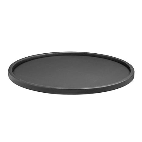 """Contempo 14"""" Round Serving Tray With 1/2"""" Rim"""