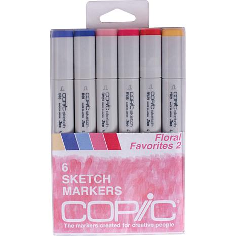 Copic Sketch Markers 6-pack - Floral Favorites 2