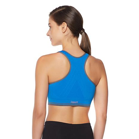 Copper Fit™ Zip-Front Seamless Sports Bra - 10072780 | HSN