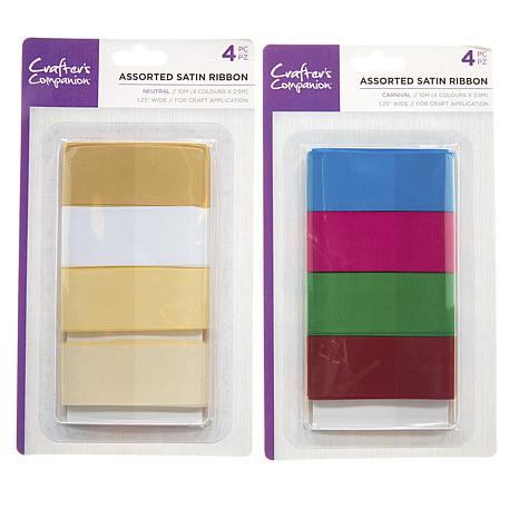 Crafter's Companion Assorted Satin Ribbon 8-pack