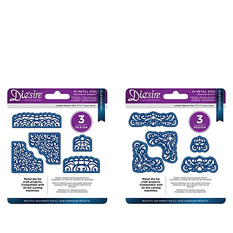 Crafter's Companion Decorative Delights Corner Dies Two Sets