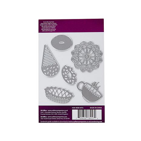 Crafter's Companion Die'sire 6pc Mini Die Set - Treats