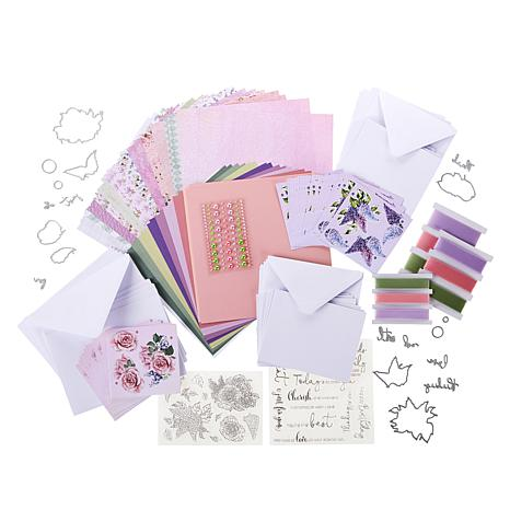 Crafter/'s Companion Floral Decoupage Card Kit Over 275 Elements 18 Cards NEW