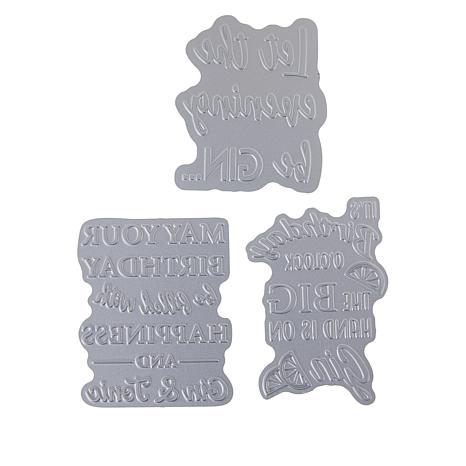 Crafter's Companion Gemini Gin Quirky Sentiments Foil Stamp Dies