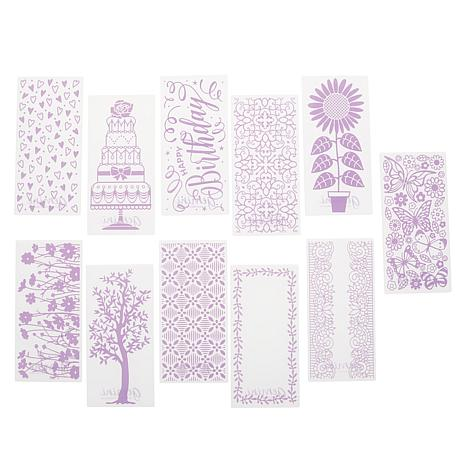 Crafter's Companion Gemini Mini Embossing Folder Kit