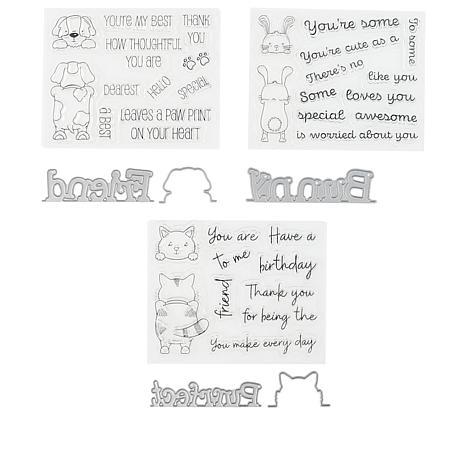 Crafter's Companion Gemini Peek-a-Boo Pets Stamp & Die Set