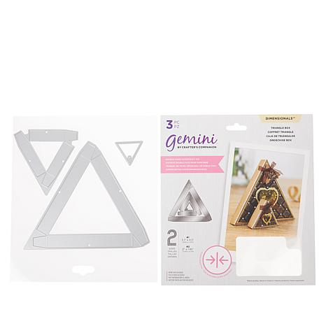 Crafter's Companion Gemini Triangular Double-Sided Box Dies