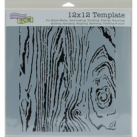 Crafters Workshop 12 x 12 Plastic Template - Woodgrain