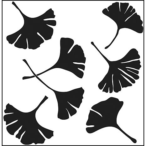 "Crafters Workshop 12"" x 12"" Template- Ginko Leaves"