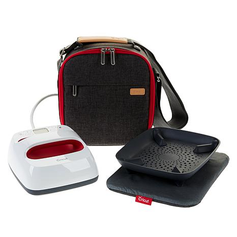"""Cricut® 6""""x7"""" Raspberry EasyPress™ 2 with Mat and Tote Travel Bundle"""