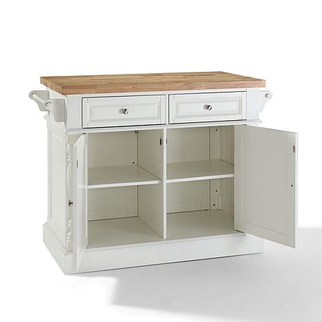 crosley butcher block top kitchen island crosley butcher block top kitchen island white 7743723 26582