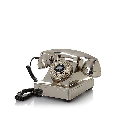Crosley Chrome Kettle-Style Desk Phone