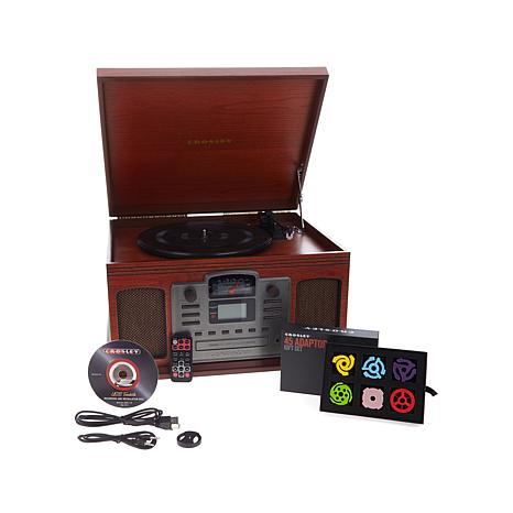 Crosley Director 8-in-1 Turntable w/Adapter Gift Set