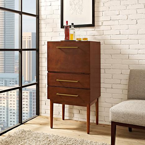 Crosley Furniture Everett Spirit Cabinet - Mahogany