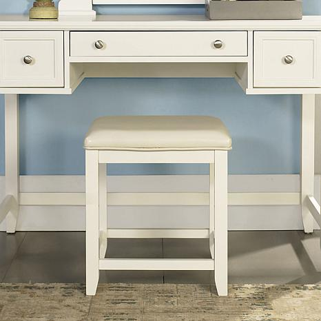 Crosley Furniture Vista Vanity Stool - White