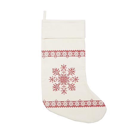 Cross Stitch Snowflake Stocking
