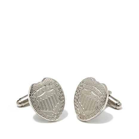 Cufflinks, Inc. Men's Silvertone Police Badge Cufflinks