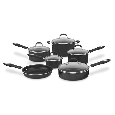Cuisinart Nonstick 11-Piece Aluminum Cookware - Black