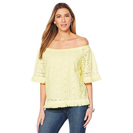 Curations Eyelet Top