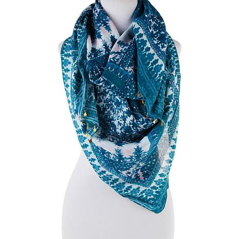 Curations Printed Oblong Tapestry Scarf
