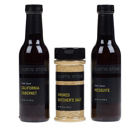 Curtis Stone Steak Sauces & Seasoning 3-piece Collection